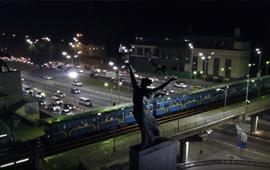 Уличное освещение г. Киев, Набережное шоссе